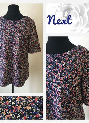 Обалденная  блуза/футболка в мелкие цветы 🌹