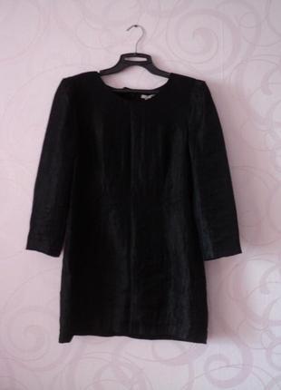 Черное платье-мини, коктейльное короткое платье, платье на 1 с...