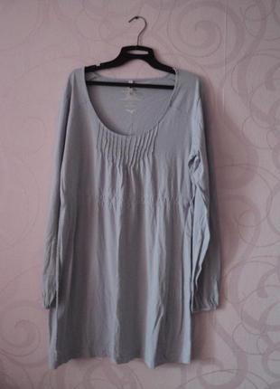 Голубая туника, мягкое платье на каждый день, туника, платье д...