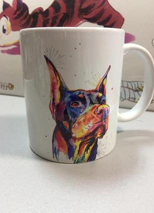 Чашка доберман