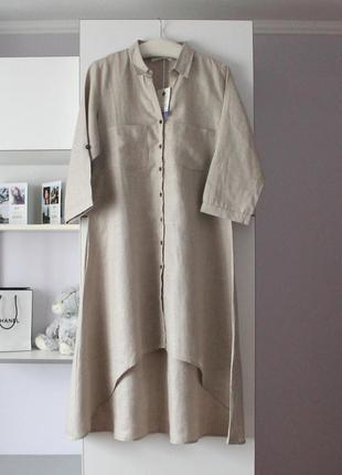 Новое льняное миди платье от linen and linens