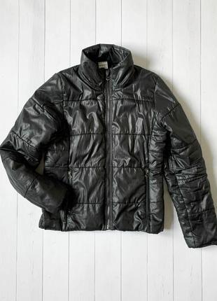Женская черная куртка микропуховик adidas (адидас) размер s-m