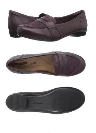 Clarks ●25-25.5см●  Кожаные туфли, балетки. Оригинал из США.