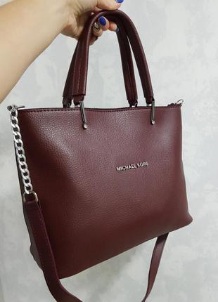 Красивая сумка из турецкой эко кожи бордовая черная красная серая