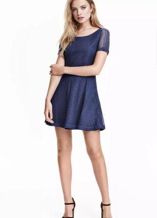 Кружевное платье мини h&m