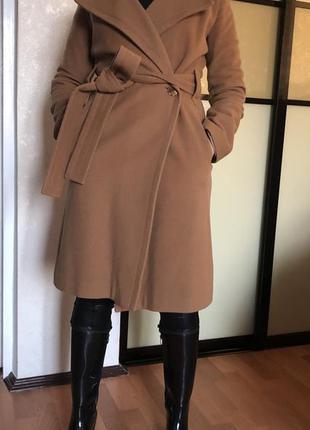 Пальто шерсть кашемир демисезонное