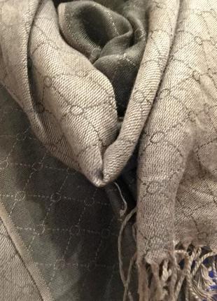 Шарф шаль палантин шоколадного цвета