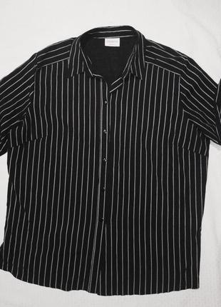 Рубашка женская черная в белую полоску
