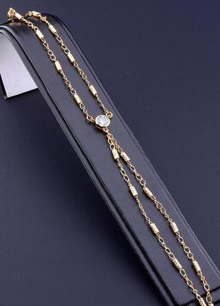 Браслет 'xuping' фианит 17 см. (позолота 18к) 0756080