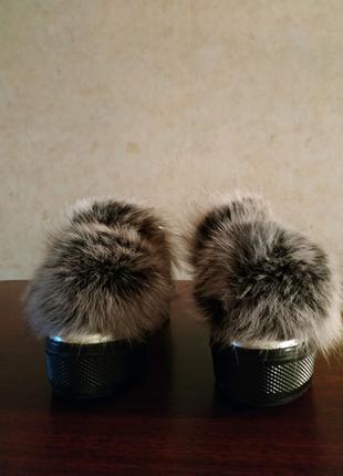 Туфли высокие ботинки лоферы слипоны ботильоны чернобурка