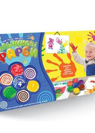 Детские пальчиковые краски Моя перша творчість 6785DT, 4 цвета