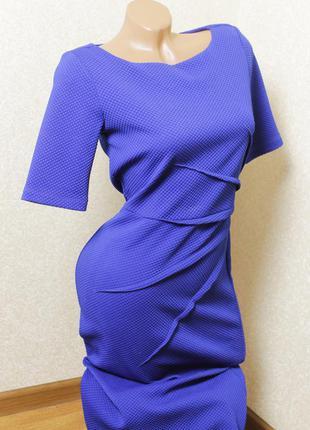 Платье футляр длина миди насыщенного синего цвета бренд marks ...
