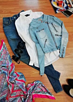 Женская крутая джинсовая куртка - косуха twist&tango - размер 44