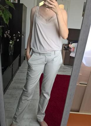 Светлые хлопковые брюки-чиносы/штаны/зауженые от blendshe-s-m-ка