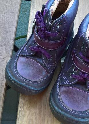 Детские ботиночки,ботинки на девочку/кожа/фиолетовые/с супинат...