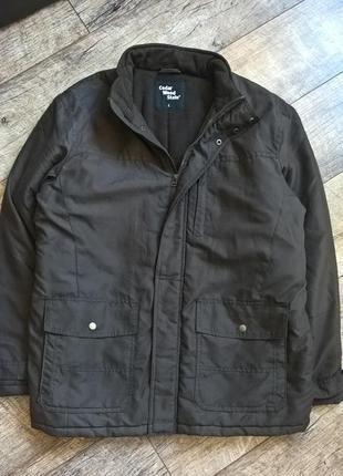 Коричневая зимняя куртка от cedar wood state/короткая/утепленн...