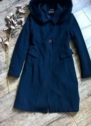 Зимнее кашемировое пальто от elvi (харьков)/утепленное с капюш...