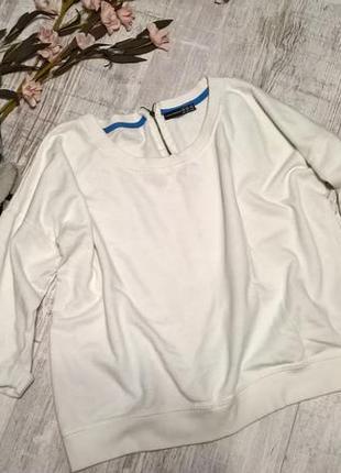 Белый свитшот, спортивная кофта/пуловер/толстовка от atmospher...