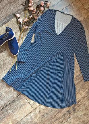 Платье от zara /синее в полоску из котона/свободный крой/кежуа...