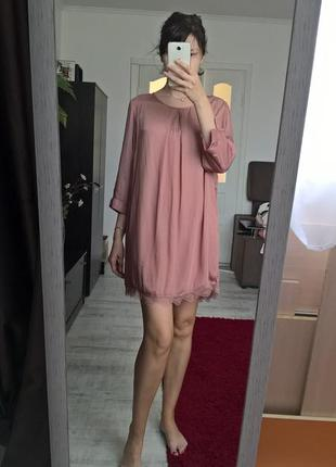 Нежное женственное платье от promiss/цвет пыльной розы/пудрово...