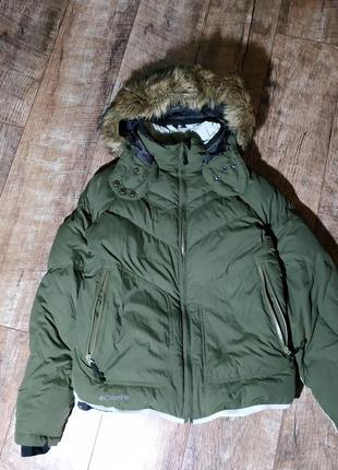Куртка лыжная с капюшоном  от COLUMBIA TITANIUM пуховая/хаки
