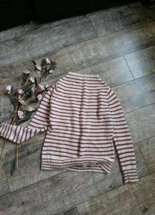 Теплейший свитер в полоску из альпаки/кофта/шерсть зимний/голь...