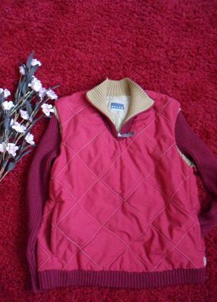 Куртка/анорак/ безрукавка цвет-марсала ,бордо от belfe, s,m