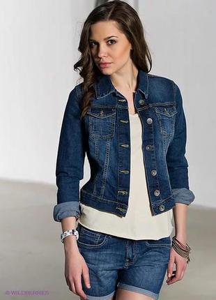 Легкая стильная курточка джинсовка hennes-s
