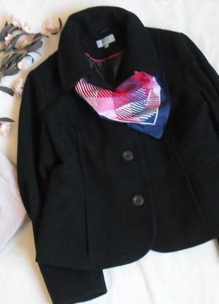 Стильное черное пальто marks&spencer -xl