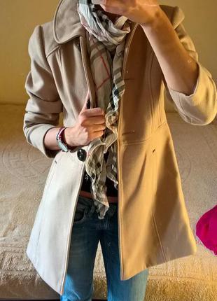 Бежевое пальто на осень,весну от george -s-m