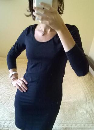Спортивное мини платье с длинным рукавом черное от sutherland-...
