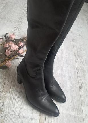 Супер стильные и качественные кожаные сапоги от angelo bervica...