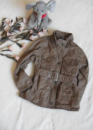 Стильный плащ zara для маленькой модницы-118рост