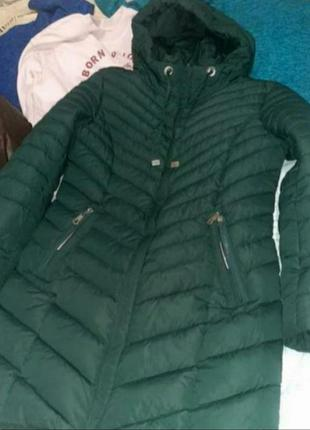 Пальто, куртка длинная хаки
