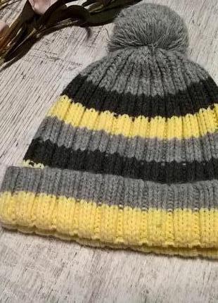 Красивая детская вязаная шапка от ander(польша) с бумбоном
