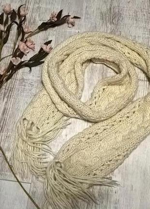Теплющий масляный шарф-снуд/удав крупной вязки от h&m