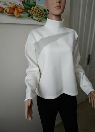 Мега стильная и трендовая блуза (свитшот) из неопрена от zara/...