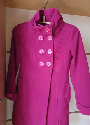 Пальто, розовое пальто, осень, весна, верхняя одежда