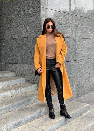 Пальто халат деми осеннее женское кашемировое