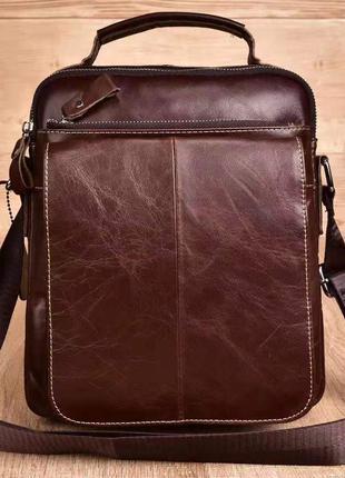 Мужская сумка с ручкой Westal Galant! Сумка из натуральной кожи