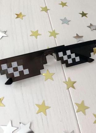 """Пиксельные очки minecraft / """"Like a boss"""" без предоплаты"""