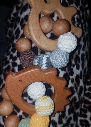 Набор деревянный грызунок - прорезыватель для зубов малышей