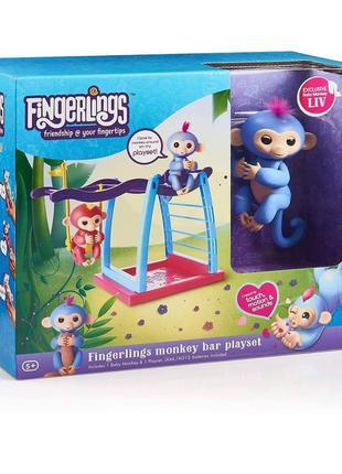 Интерактивная обезьянка Fingerlings с турником