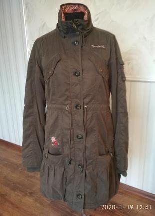 Теплое стильное пальто на меховой подкладке, размер 48-50.