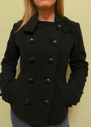 Пальто шерстяное короткое куртка