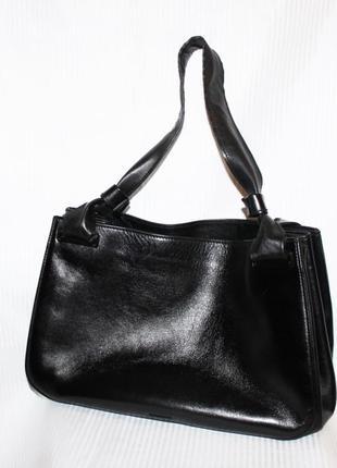 Крутая сумка шоппер кожа чёрный люкс бренд gucci италия оригинал