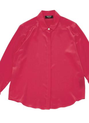 Шовкова рожева фуксія блузка the kooples