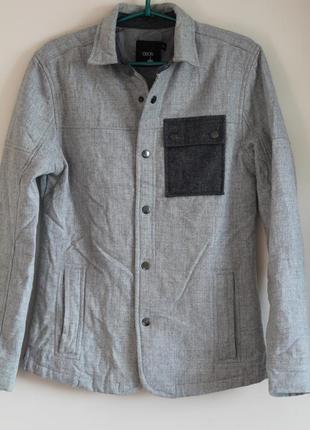 Стильная шерстяная рубашка-куртка на утеплителе  asos