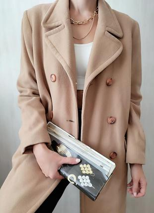 🔥 хіт продаж 🔥трендове шерстяне двухбортне пальто cubus