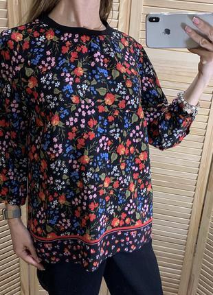 Блуза из вискозы в цветок next